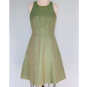 Banana Republic Racerback Green Tweed Dress 10 NWT